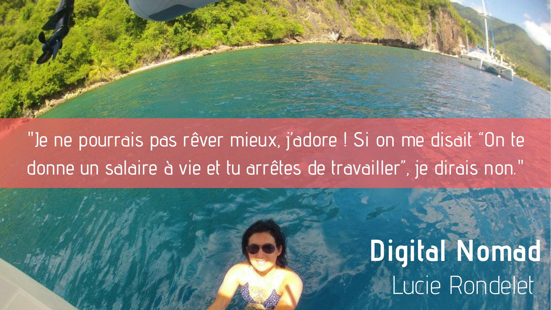 Lucie Rondelet, Digital Nomad Rédactrice Web Freelance
