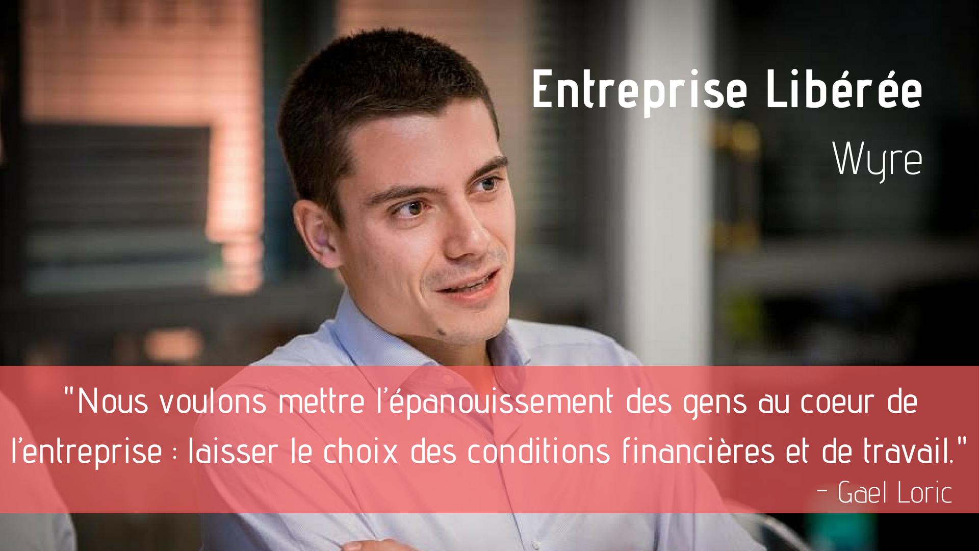 Interview de Gaël Loric, qui a créé une société de conseil libérée